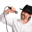 Singer with microphone — Stock Photo #10883085