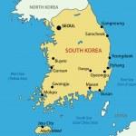 Republic of Korea - vector map — Stock Vector #10806575