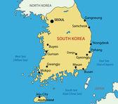 Republic of Korea - vector map — Stock Vector