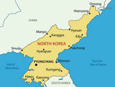 North Korea - vector map — Stock Vector