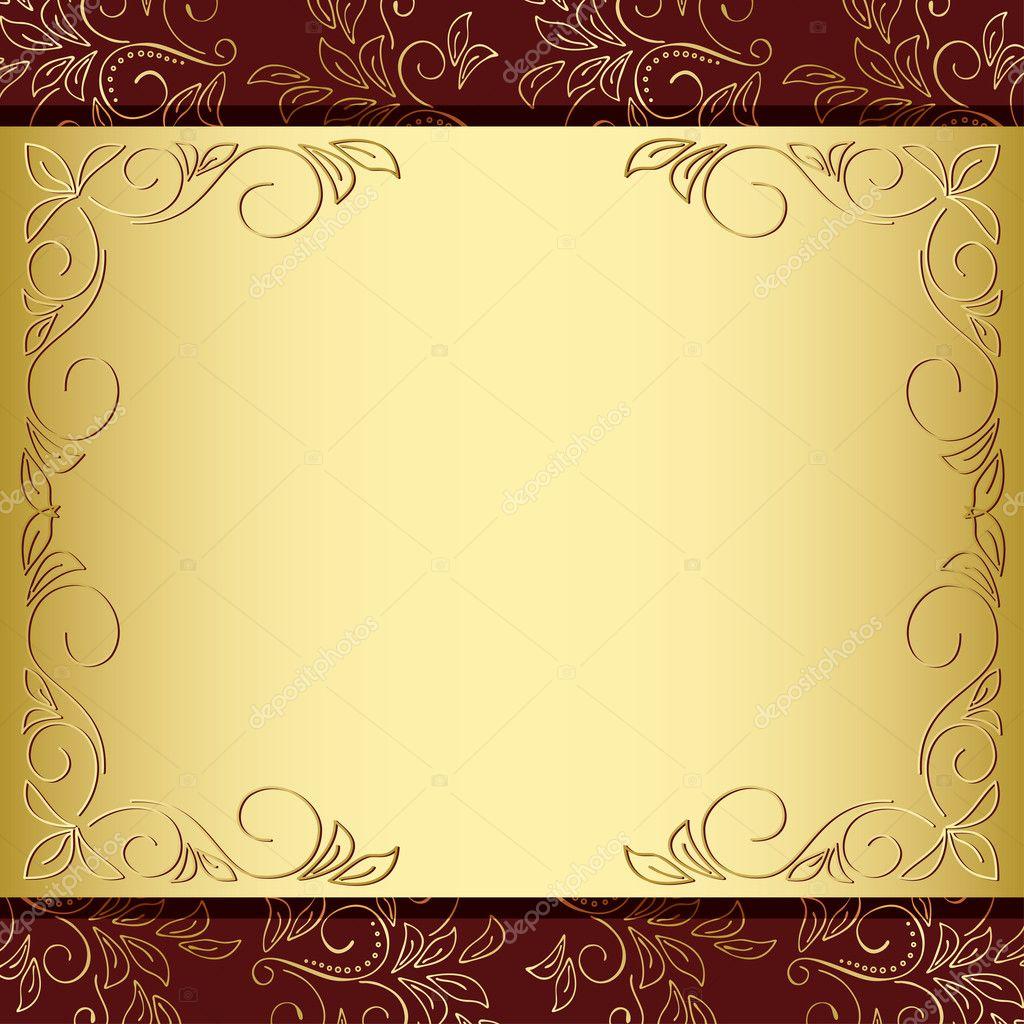 leafy frame brown