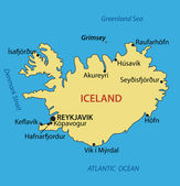 Iceland - vector map — Stock Vector