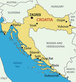 Republic of Croatia - vector map — Vector de stock