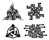 Black elements for design - vector tattoo — Stock Vector