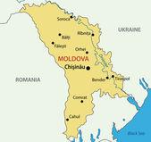 Republic of Moldova - vector map — Stock Vector