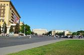 Freedom Square in Kharkiv - Ukraine — 图库照片
