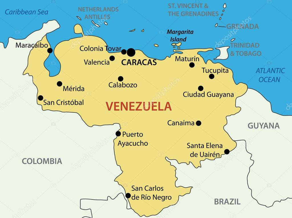 ... of Venezuela - vector map ...
