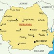 Romania - vector map — Stok Vektör