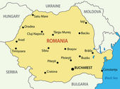 Romania - vector map — Vector de stock