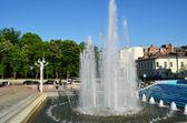 фонтан в парке города харьков - украина — Стоковое фото