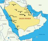 Kingdom of Saudi Arabia - vector map — Stock Vector