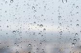 Rain drops on glass — Stock Photo