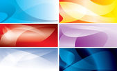 Abstract colorful backgrounds with wavy lines - vector set — Stock Vector