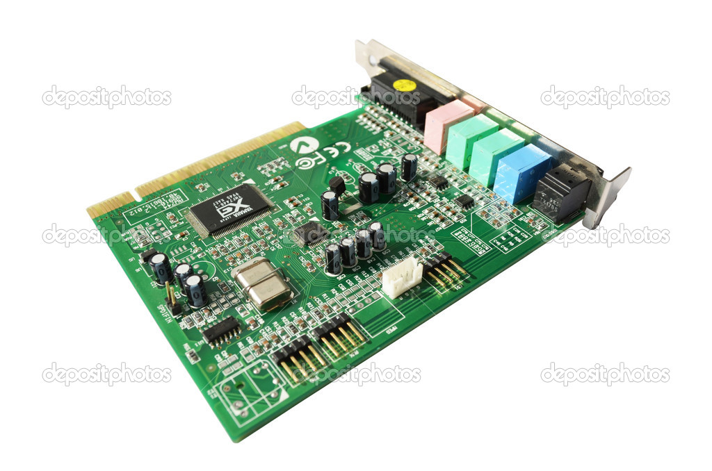 Computer sound blaster - audio card — Stock Photo #11824755