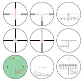 Reticles - vector set — Stock Vector