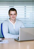 A man with laptop — Stock Photo