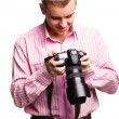 Man with camera — Stock Photo