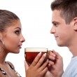 Man and woman with cup of tea — Stock Photo #11467104