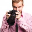 Stock Photo: Man with camera
