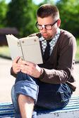 Un hombre con gafas — Foto de Stock