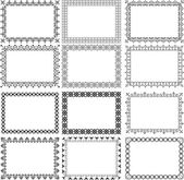 Set of borders — Stock Vector