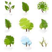 Tree Symbols Set — Stock Vector