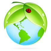 Grön jord-ikonen — Stockvektor