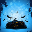 Stock Vector: Grunge Halloween Party Background