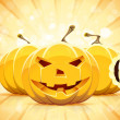 Halloween Background with Pumpkins — Stockvectorbeeld