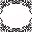 Royalty-Free Stock ベクターイメージ: Abstract floral decorative black frame vector illustration