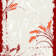 Abstract Grunge Floral Background - Stockvectorbeeld