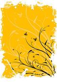 抽象 grunge 花卉装饰背景矢量图 — 图库矢量图片