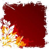 Ilustração em vetor abstrato grunge floral fundo decorativo — Vetor de Stock