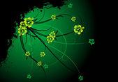 Fundo floral grunge abstrata — Vetorial Stock