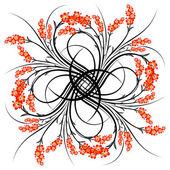 抽象花卉卷轴 — 图库矢量图片