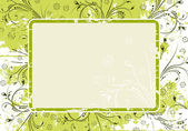 Soyut grunge floral arka plan — Stok Vektör
