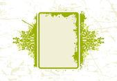 Abstraktní grunge květinový rámeček — Stock vektor