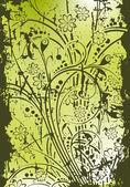 Abstracte grunge floral achtergrond — Stockvector