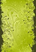 Grunge astratto sfondo floreale — Vettoriale Stock