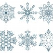 Winter snowflakes - Stock Vector