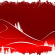 Grunge winter background with fir-tree snowflakes and Santa Clau - Stock Vector