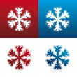 Royalty-Free Stock Immagine Vettoriale: Snowflake icon set