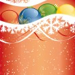 Abstract Vector Christmas Background — Stock Vector