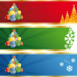Christmas tree banner - Stock Vector