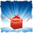 Christmas background with present - Image vectorielle