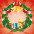Christmas wreath - Image vectorielle
