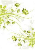 抽象 grunge 花卉背景 — 图库矢量图片