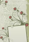 Grunge çerçeve çiçek arka plan — Stok Vektör
