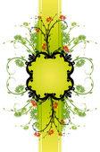 Floral bakgrund med ram — Stockvektor