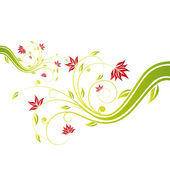 Floral scroll — Stock Vector